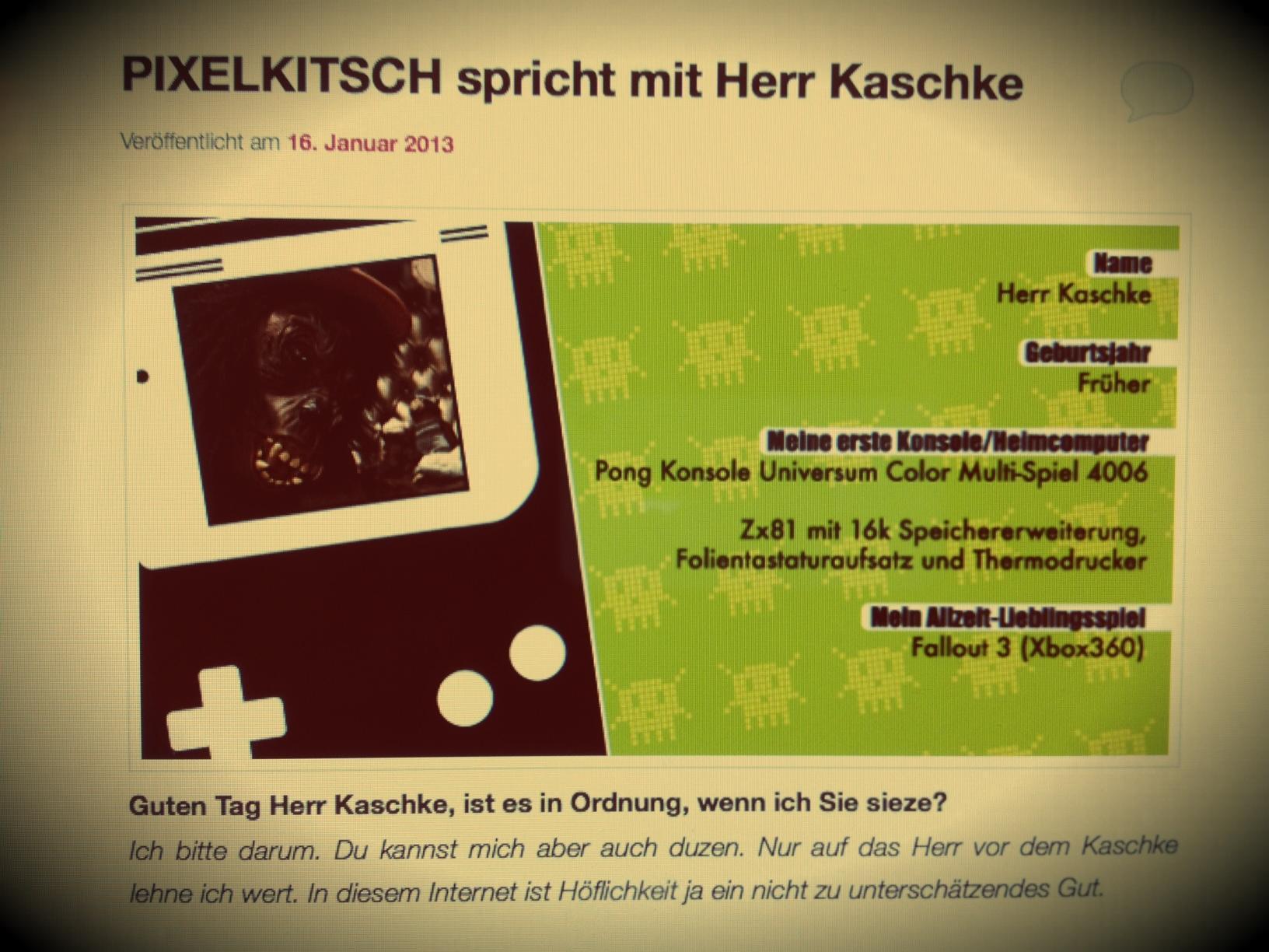 Interview: Das Retromagazin Pixelkitsch & Herr Kaschke